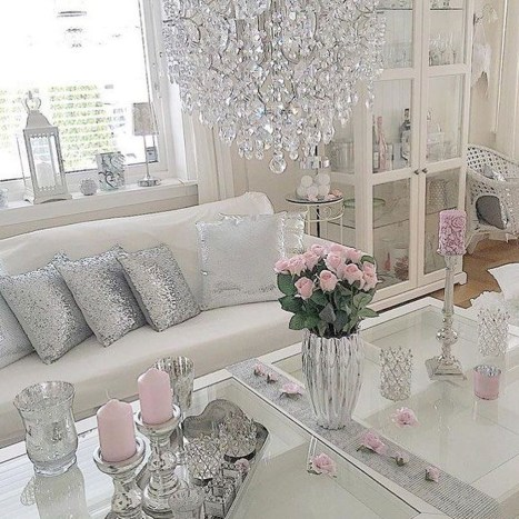 Lovely Shabby Chic Living Room Design Ideas 41