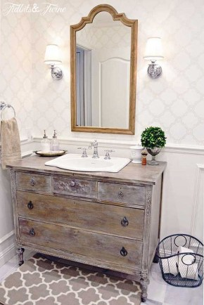 Stunning Rustic Farmhouse Bathroom Design Ideas 17