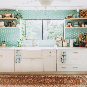 Classy Bohemian Style Kitchen Design Ideas 42