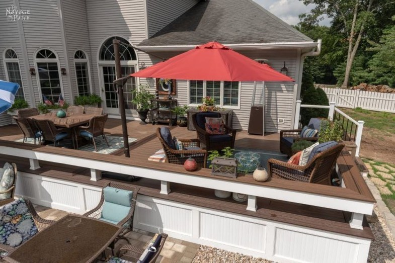 Easy DIY Wooden Deck Design For Your Home 41