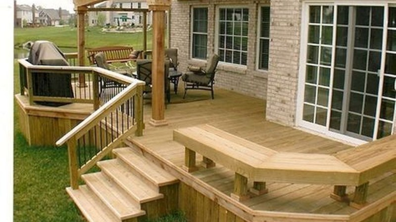 52 Easy DIY Wooden Deck Design For Your Home