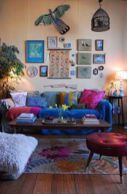 Elegant Bohemian Style Living Room Decoration Ideas 04