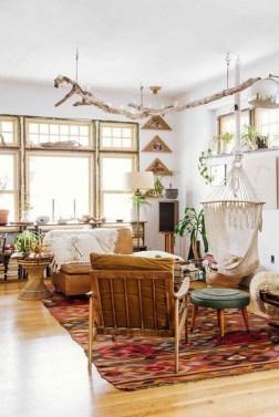 Elegant Bohemian Style Living Room Decoration Ideas 07