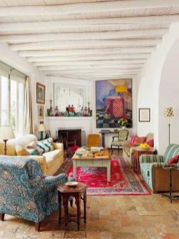 Elegant Bohemian Style Living Room Decoration Ideas 18