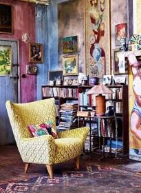 Elegant Bohemian Style Living Room Decoration Ideas 19