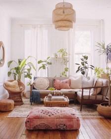 Elegant Bohemian Style Living Room Decoration Ideas 22