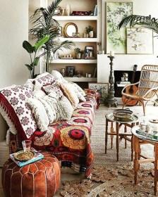Elegant Bohemian Style Living Room Decoration Ideas 23