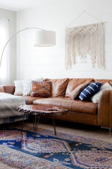 Elegant Bohemian Style Living Room Decoration Ideas 25