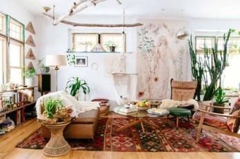 Elegant Bohemian Style Living Room Decoration Ideas 27