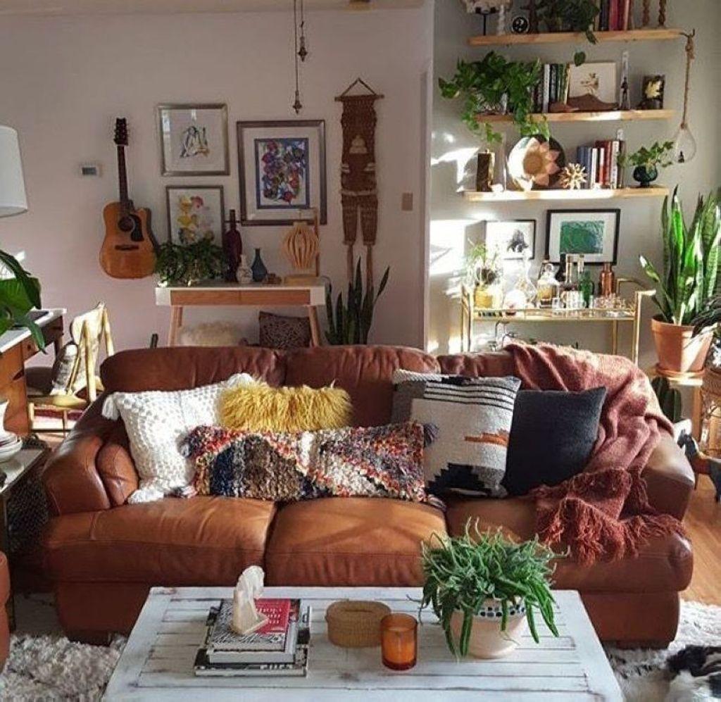 Elegant Bohemian Style Living Room Decoration Ideas 42