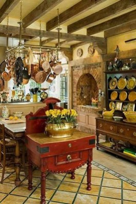 Fancy French Country Kitchen Design Ideas 40