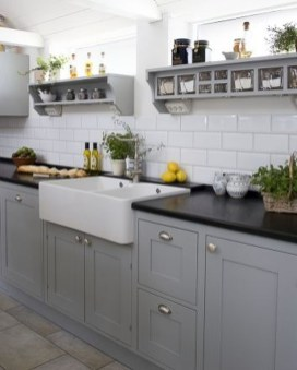 Fancy French Country Kitchen Design Ideas 46