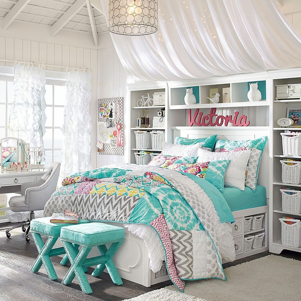 51 Modern Colorful Bedroom Design Ideas For Your Daughter - HOMYSTYLE