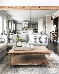 Modern Farmhouse Living Room Design Ideas 13