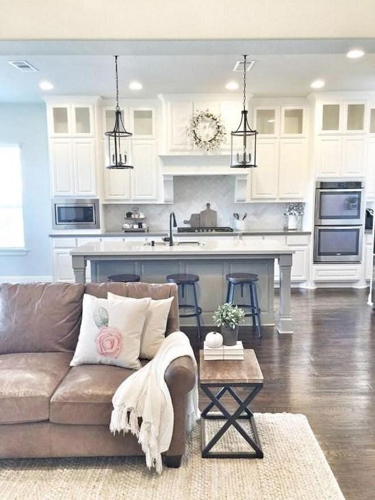 Modern Farmhouse Living Room Design Ideas 16