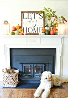 Stunning Fall Living Room Decoration Ideas 12