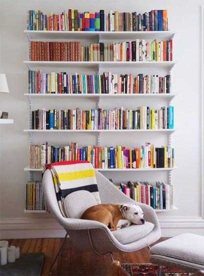 Stylish Bookshelves Design Ideas For Your Living Room 19