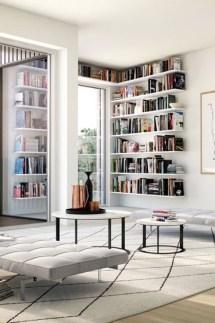 Stylish Bookshelves Design Ideas For Your Living Room 30