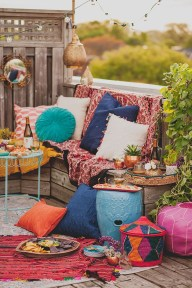 Awesome Bohemian Style Ideas For Outdoor Design 08