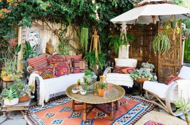 Awesome Bohemian Style Ideas For Outdoor Design 18