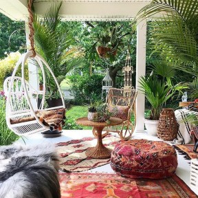 Awesome Bohemian Style Ideas For Outdoor Design 22