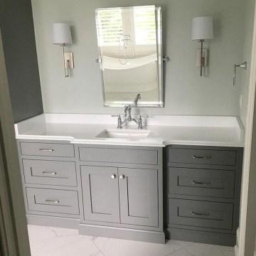 Incredible Bathroom Cabinet Paint Color Ideas 25