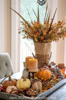Simple Fall Table Decoration Ideas 30