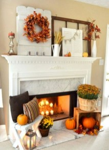 Awesome Fireplace Christmas Decoration To Makes Your Home Keep Warm 40