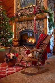 Awesome Fireplace Christmas Decoration To Makes Your Home Keep Warm 50