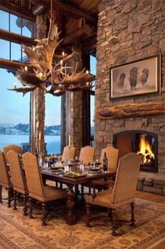 Best Rustic Dining Room Design Ideas 45