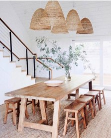 Easy Rustic Farmhouse Dining Room Makeover Ideas 03