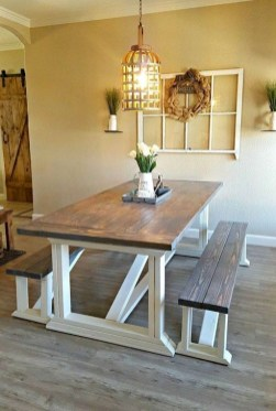Easy Rustic Farmhouse Dining Room Makeover Ideas 07