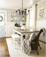Easy Rustic Farmhouse Dining Room Makeover Ideas 15