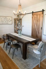 Easy Rustic Farmhouse Dining Room Makeover Ideas 16