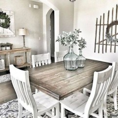 Easy Rustic Farmhouse Dining Room Makeover Ideas 17