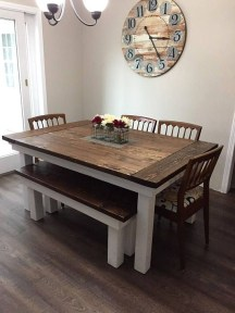 Easy Rustic Farmhouse Dining Room Makeover Ideas 23