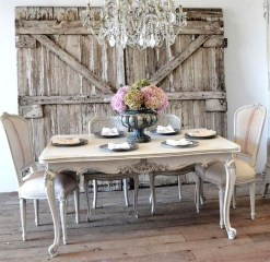 Easy Rustic Farmhouse Dining Room Makeover Ideas 31