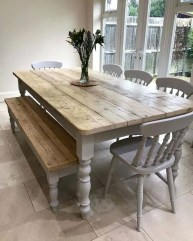 Easy Rustic Farmhouse Dining Room Makeover Ideas 34