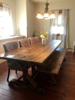 Easy Rustic Farmhouse Dining Room Makeover Ideas 36