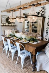 Easy Rustic Farmhouse Dining Room Makeover Ideas 40
