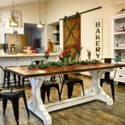 Easy Rustic Farmhouse Dining Room Makeover Ideas 51
