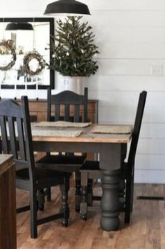 Easy Rustic Farmhouse Dining Room Makeover Ideas 56