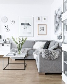 Elegant Scandinavian Living Room Design Ideas 36