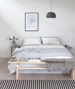 Minimalist But Beautiful White Bedroom Design Ideas 05