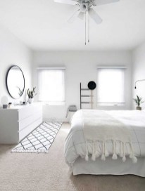 Minimalist But Beautiful White Bedroom Design Ideas 31