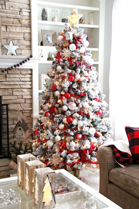 Red And White Christmas Tree Decorations Ideas.44 Awesome Red And White Christmas Tree Decoration Ideas
