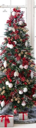 Awesome Red And White Christmas Tree Decoration Ideas 33