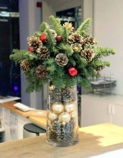 Beautiful Flower Christmas Decoration Ideas 49