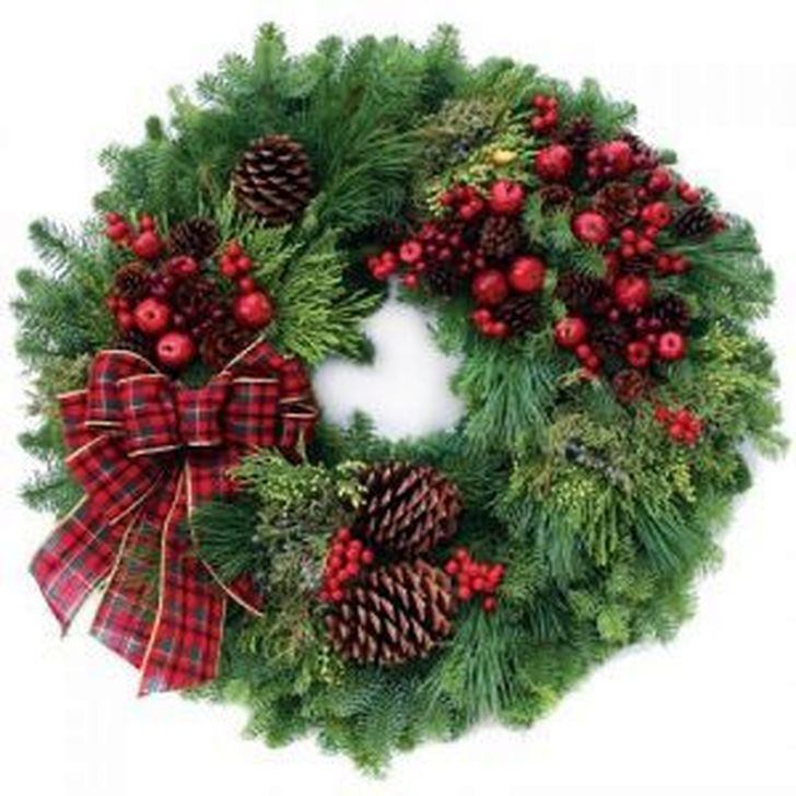 Excellent Christmas Wearth Decoration For Your Door 09