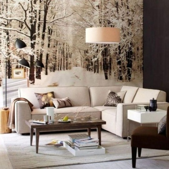 Popular Winter Living Room Design For Inspiration 16